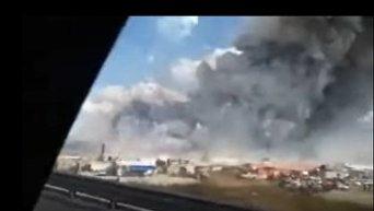 Взрыв на фабрике пиротехники в Мексике. Видео