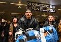 Встреча Александра Усика в аэропорту Борисполь