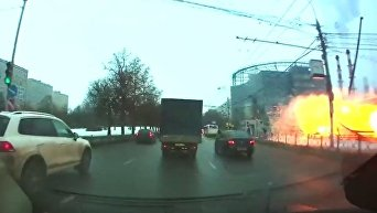 Появилось видео взрыва у метро Коломенская. Видео