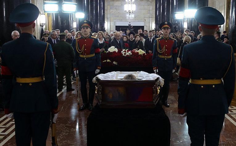 Церемония прощания с послом России в Турции Андреем Карловым в министерстве иностранных дел России.
