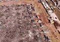 Выжженная земля на месте рынка пиротехники в Мексике. Видео