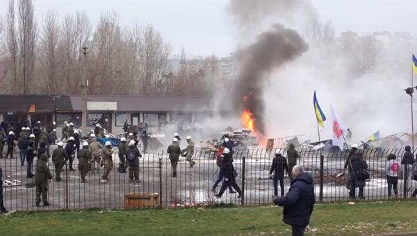 Три человека пострадали в итоге конфликта нарынке «Харьковский» вКиеве