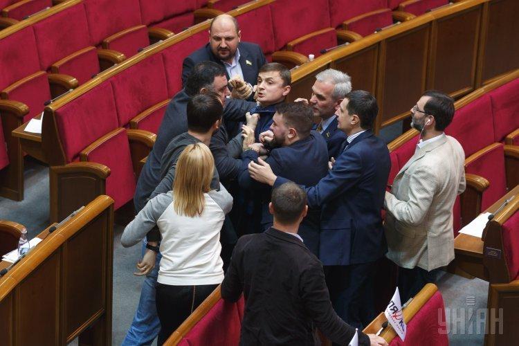 Драка между народными депутатами в Раде 23 декабря