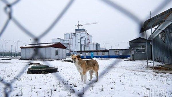 Припять и зона ЧАЭС в снегу
