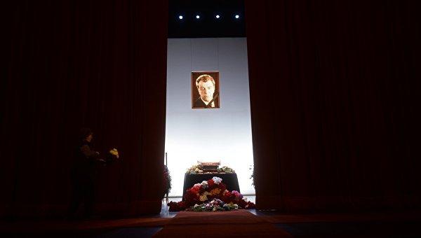 Прощание с актером Вячеславом Шалевичем