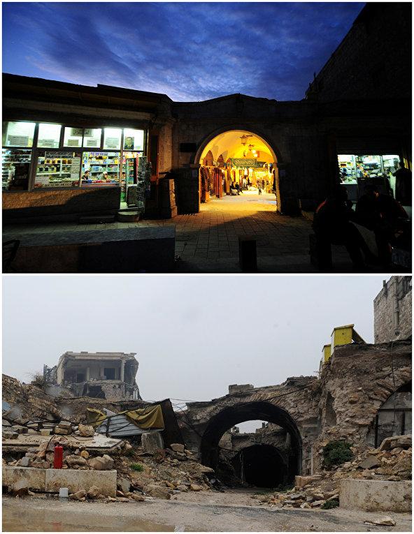 Сирийский Алеппо до и после войны
