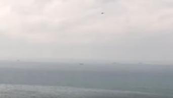Появились кадры с места крушения Ту-154 в Сочи. Видео