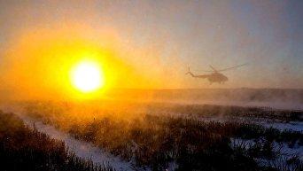 Президентский вертолет Петра Порошенко в Донецкой области