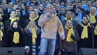Празднуем Рождество вместе. Огромный хор спел колядки в Киеве. Видео