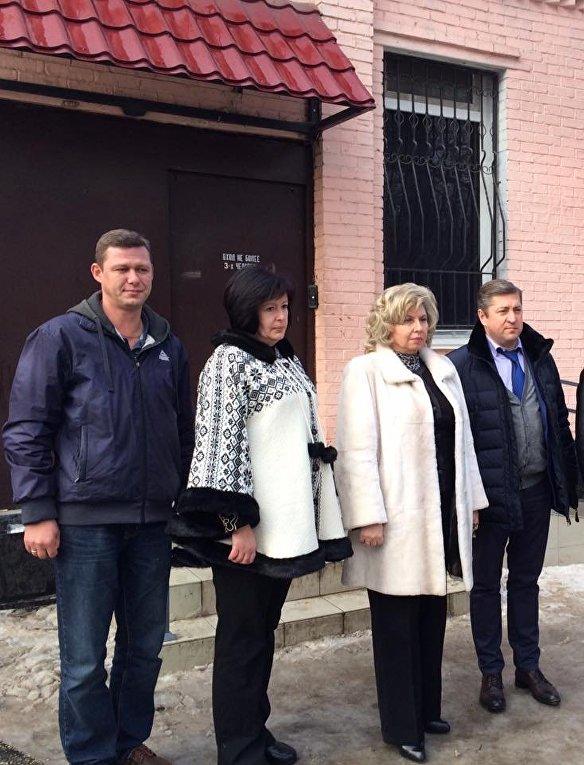 Валерия Лутковская в ходе посещения СИЗО в Симферополе