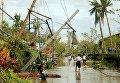 Последствия тайфуна в центральной части Филиппин