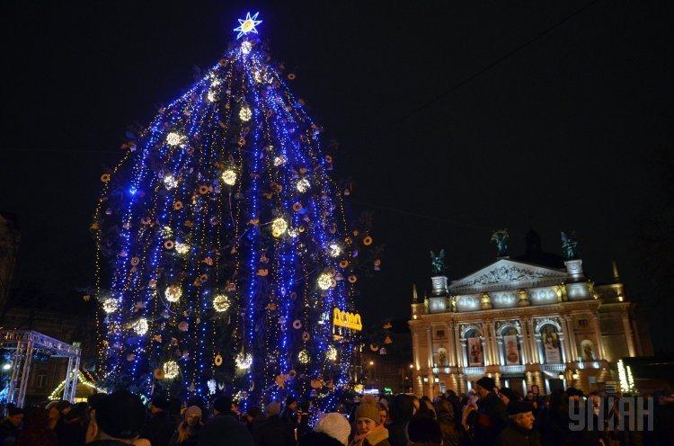 Новогодняя елка во Львове