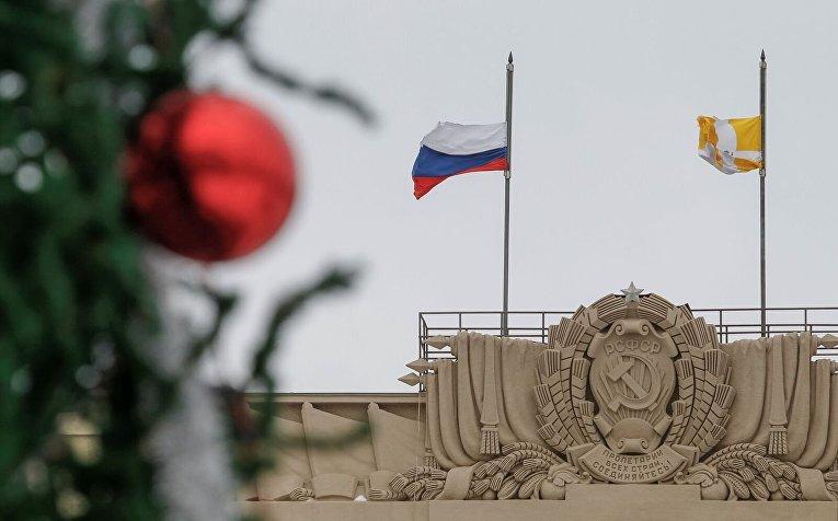 Россия, траур по погибшим в авиакатастрофе