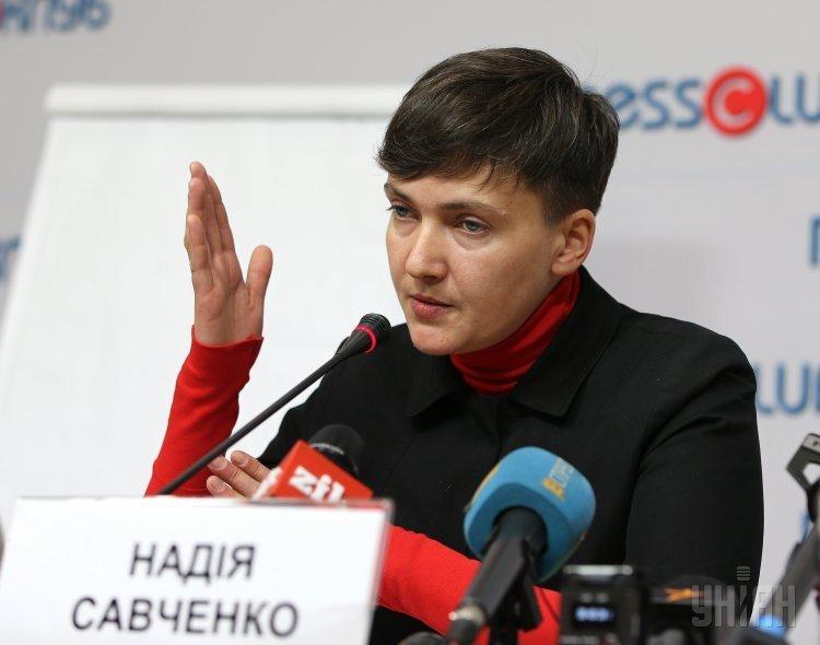 Внефракционный народный депутат Надежда Савченко