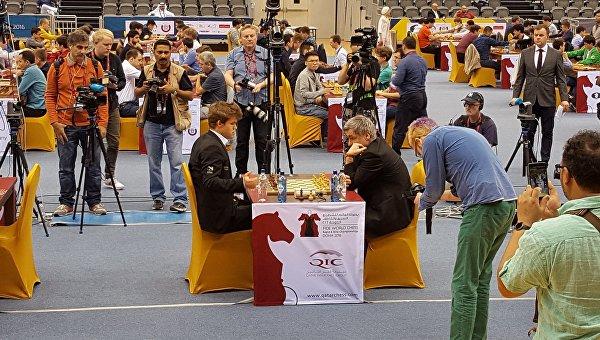 Встреча Иванчука и Карлсена