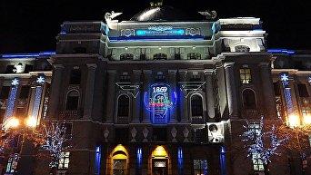 Железнодорожный вокзал в Харькове накануне Нового года