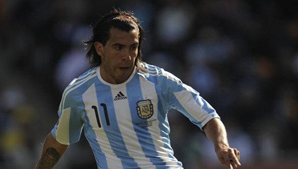 Нападающий сборной Аргентины Карлос Тевес. Архивное фото