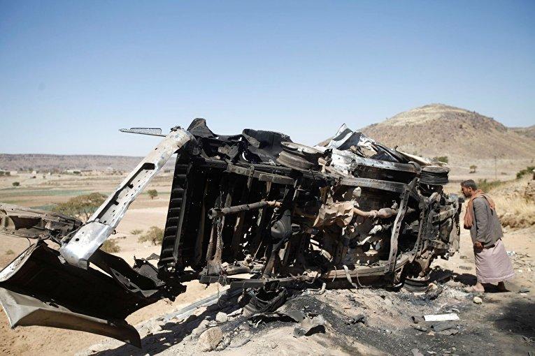 Последствия авиаудара в Йемене коалиции, возглавляемой Саудовской Аравией