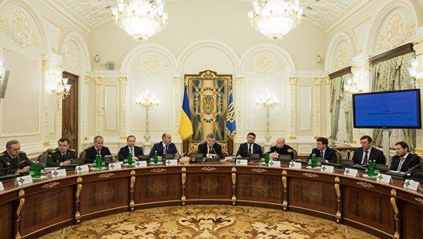 Заседание СНБО во главе с президентом Петром Порошенко
