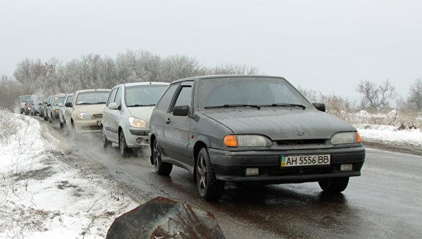 Въезд в Горловку