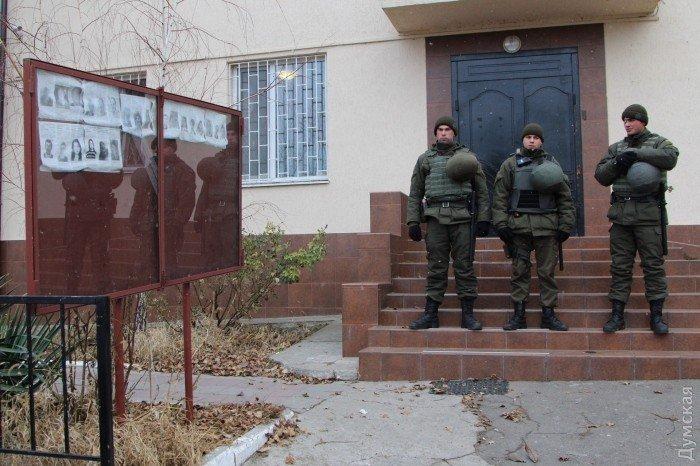 Военнослужащие одесского полка Нацгвардии, отличившиеся при задержании овидиопольского убийцы