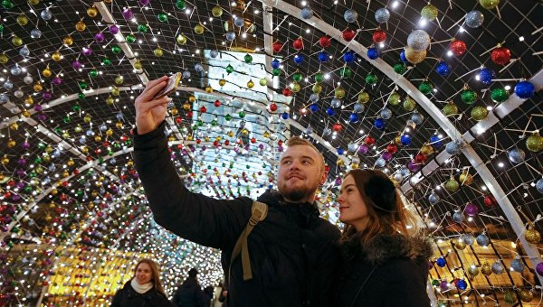 Рождественская ярмарка в центре Киева