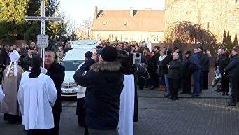 Дуда пришел на похороны убитого польского водителя