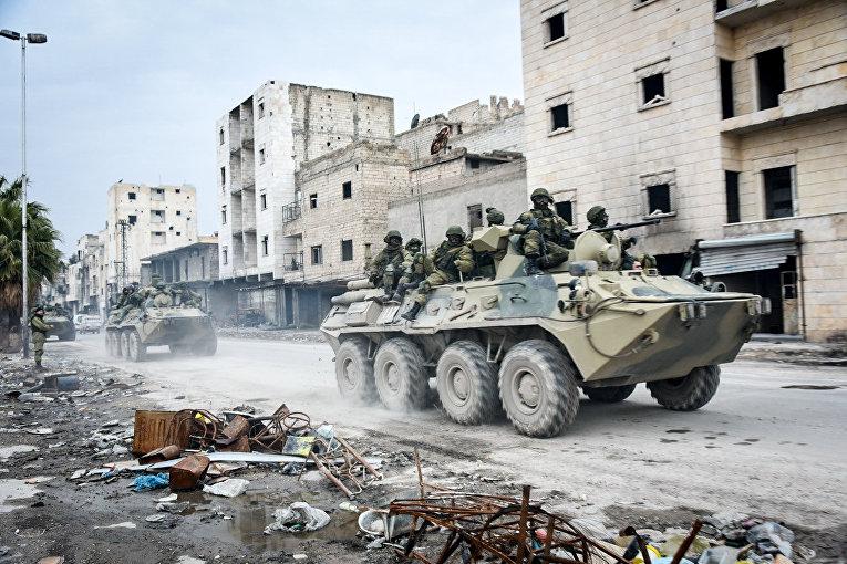 Разминирование восточных районов сирийского города Алеппо