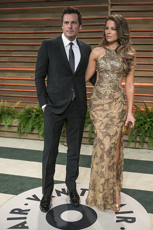 Кейт Бекинсейл и ее бывший муж Лен Уайзман