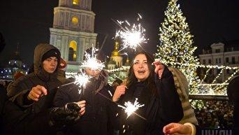 Празднование Нового года в Киеве