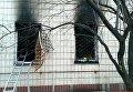 В Киеве горело здание поликлиники в Днепровском районе