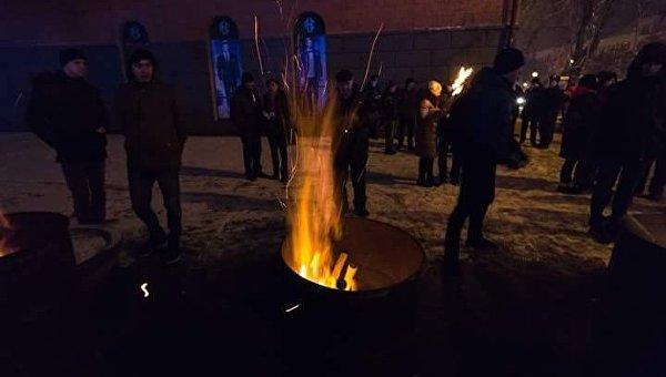 Днепр посленовогодний: факельное шествие в честь Бандеры