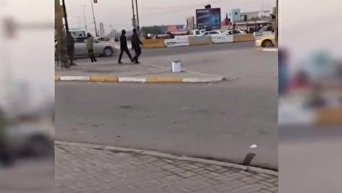 Появилось видео взрыва в Багдаде. Видео