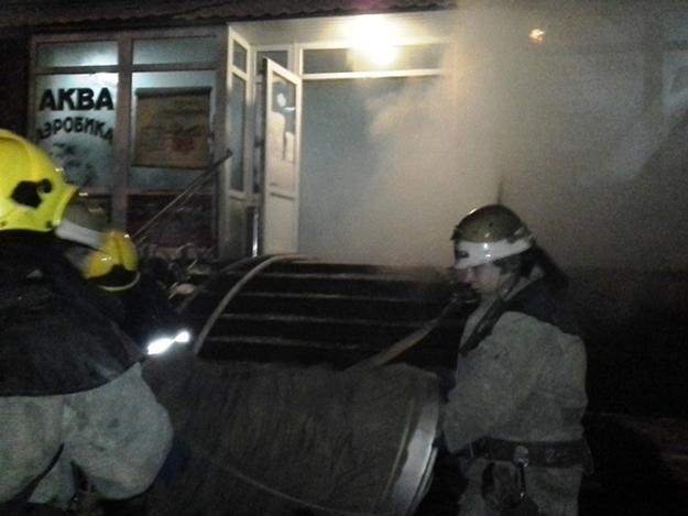 Пожар в банном комплексе в Запорожье