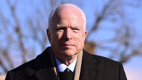 Визит делегации американских сенаторов в Грузию. Сенатор США Джон Маккейн