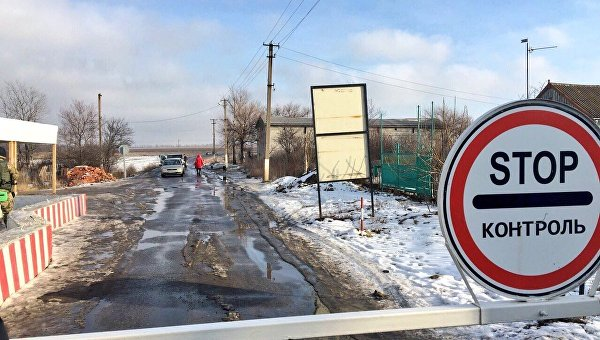 КПП в Донецкой области. Архивное фото