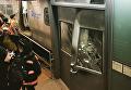 Авария с пригородным поездом в Бруклине