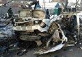 На месте взрыва в Донецке