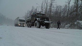 Снегопад на Закарпатье