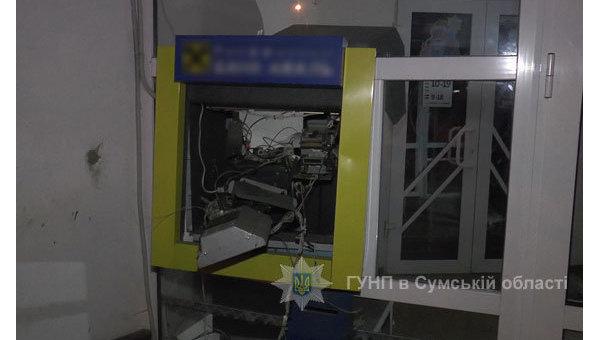 ВСумах преступники превратили банкомат вгазовую бомбу иукрали деньги