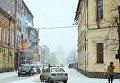 Снегопад в Ужгороде