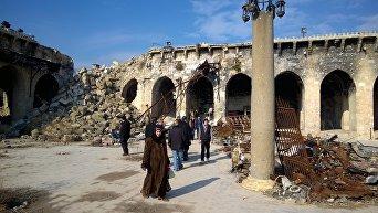 Разрушенная Мечеть Омейядов в Алеппо