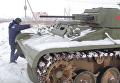 Белорус собрал в своем гараже танк Т-60