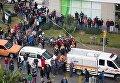 Последствия взрыва заминированного авто в Измире 5 января 2017