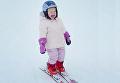 Двухлетняя дочь Владимира Кличко на лыжах. Видео