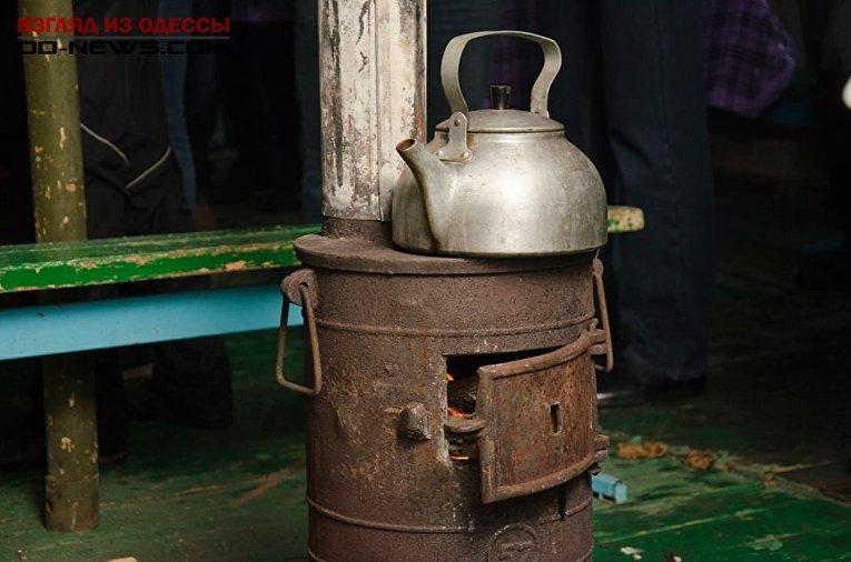 Пункт обогрева в Одессе