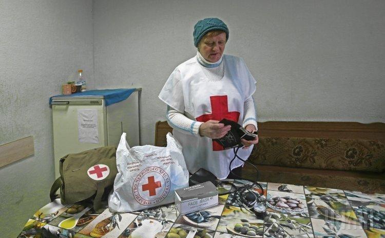 Пункт обогрева в Киеве