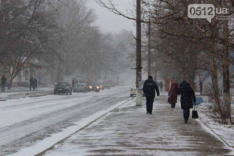 Снежная буря в Николаеве