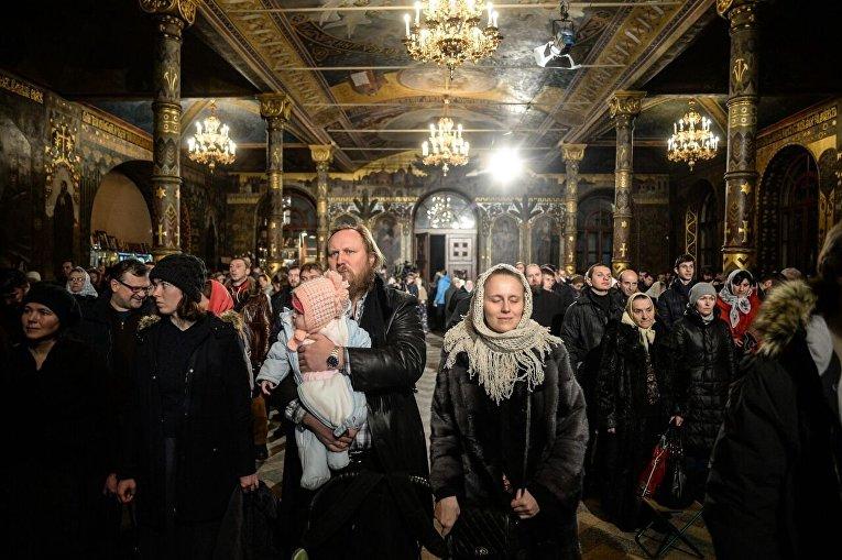 Рождественская служба в Киево-Печерской Лавре