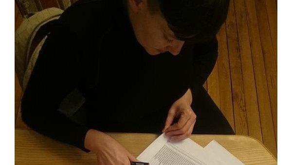 Надежда Савченко со списками